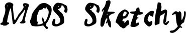 MQS Sketchy Font