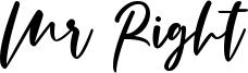 Mr Right Font