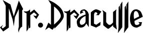 Mr.Draculle Font