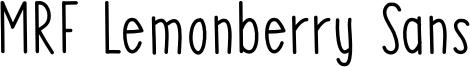 MRF Lemonberry Sans Font