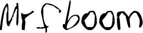 Mrfboom Font