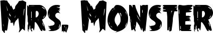 Mrs. Monster Font