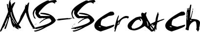 MS-Scratch Font