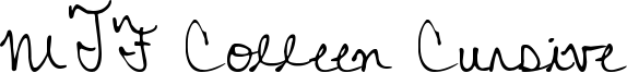 MTF Colleen Cursive Font