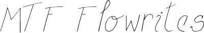 MTF Flowrites Font