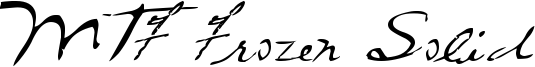 MTF Frozen Solid Font