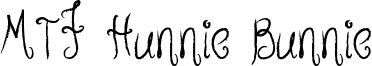 MTF Hunnie Bunnie Font