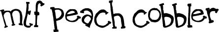 MTF Peach Cobbler Font