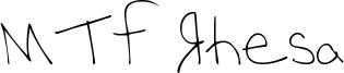 MTF Rhesa Font