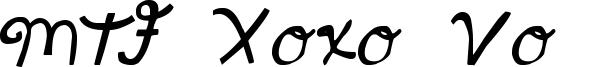 MTF Xoxo Vo.1 Font