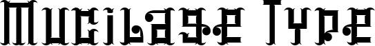 Mucilage Type Font