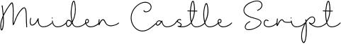 Muiden Castle Script Font