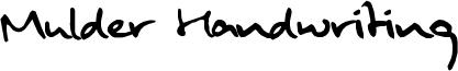 Mulder Handwriting Font