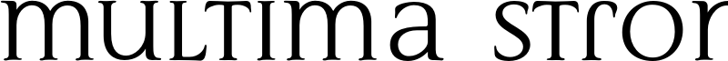 Multima Strong Font