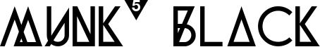 Munk5 Black Font