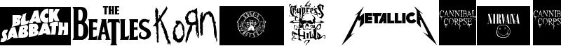 Music Logos TFB Font