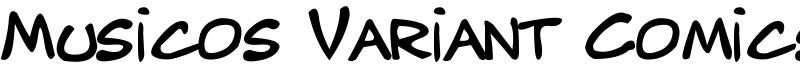 Musicos Variant Comics Font