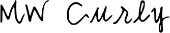MW Curly Font