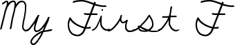 My First F Font