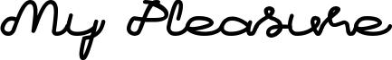 My Pleasure Font