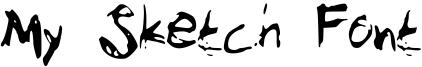 My Sketch Font Font