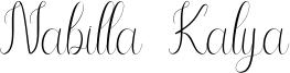 Nabilla Kalya Font
