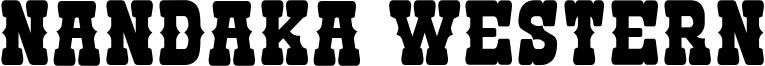 Nandaka Western Font