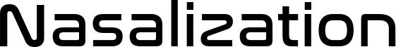 Nasalization Font