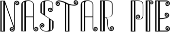 Nastar Pie Font