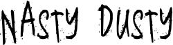 Nasty Dusty Font