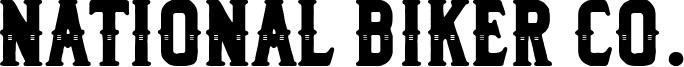 National Biker Co. Font
