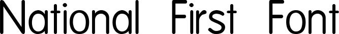 National First Font Font