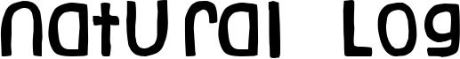 Natural Log Font