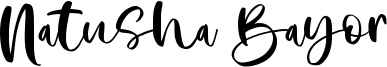 Natusha Bayor Font
