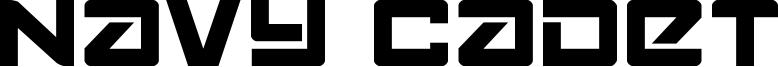 Navy Cadet Font