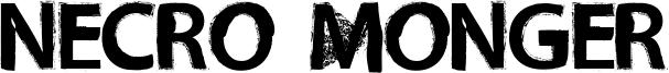 Necro Monger Font