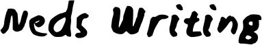 Neds Writing Font