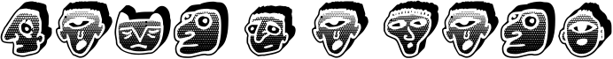 Negative Heads Font