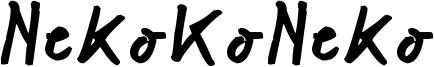 NekoKoNeko Font