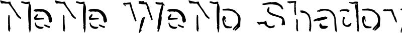 NeNe WeNo Shadow HandWrite Font