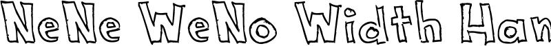 NeNe WeNo Width HandWrite Font