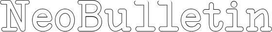 NeoBulletin Outline.otf