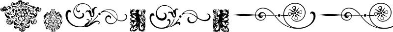 Neoclassic Fleurons Font