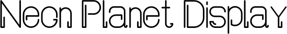 Neon Planet Display Font
