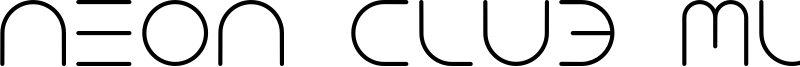 Neon Club Music Font