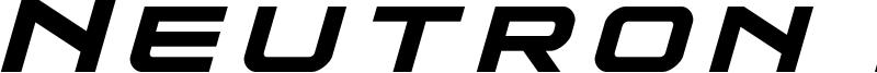 Neutron Dance Font