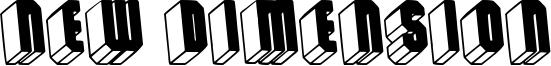 New Dimension Font