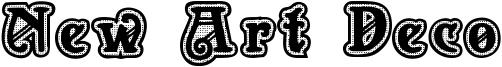 New Art Deco Font