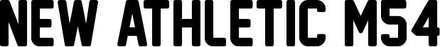 New Athletic M54 Font