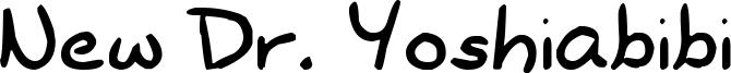 New Dr. Yoshiabibi Font